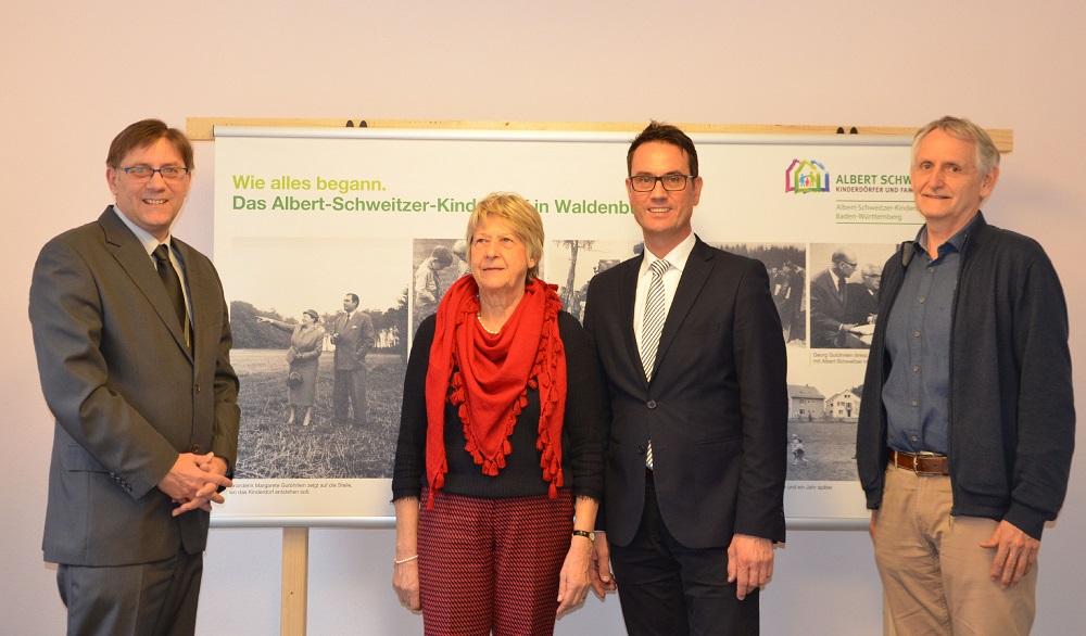 (von links) Wolfgang Bartole, Heide Gaßmann, Markus Knobel und Heinrich Schüz.