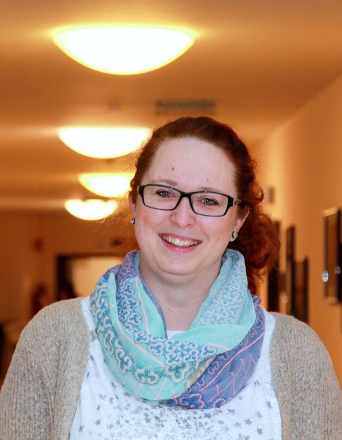 Praktikantin Sonja Herbart