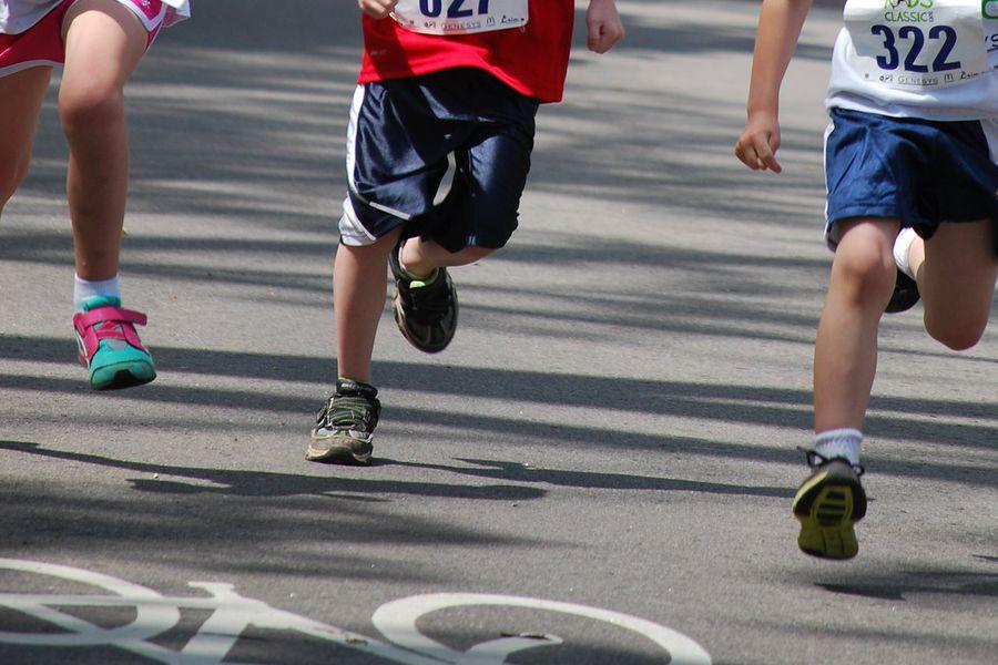 rennende Beine
